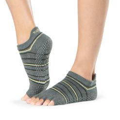 chaussettes de pilates Half Toe Low Rise Amped de Toesox - Stelvoren