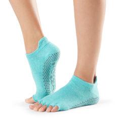 chaussettes Toesox Half Toe Low Rise Aqua - Stelvoren