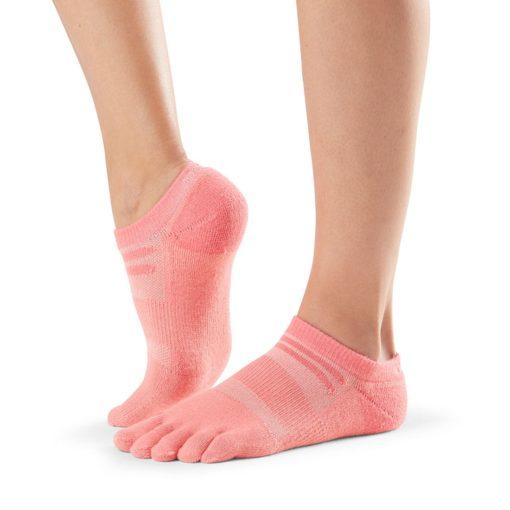chaussettes de sport toesox mediumweight crew coral