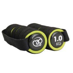 Haltères en Néoprène 1kg pour le pilates, le fitness, la marche à pied et le jogging - Stelvoren