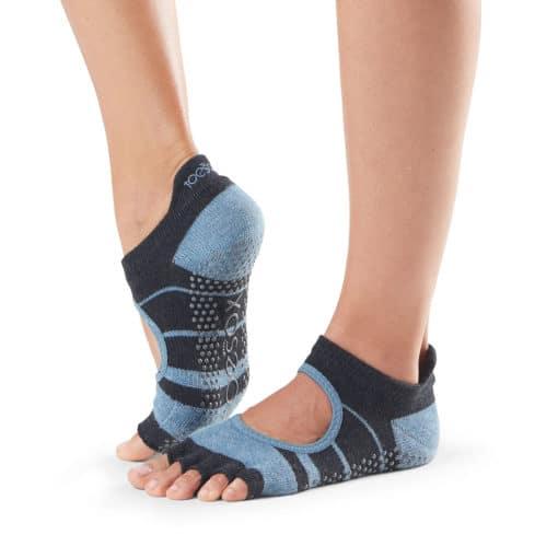 Chaussettes de yoga mitaines à orteils séparés half toe bellarina snowbound Toesox - Stelvoren