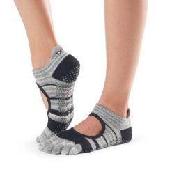 chaussettes antidérapantes à cinq doigts Toesox - Stelvoren