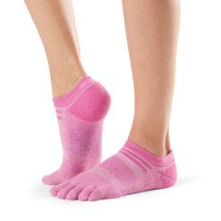 chaussettes de sport à orteils séparés Medium Weight No Show Peony - Stelvoren