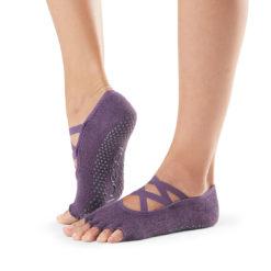 pour les activités exercées pieds nus, chaussettes Half Toe Elle Lavender de Toesox - Stelvoren