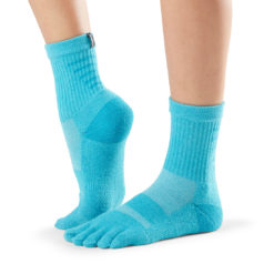 chaussettes de sport à cinq doigts Toesox Mediumweight Crew Wave de Toesox - Stelvoren
