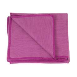 couverture de yoga sans couture 100% coton aubergine - Stelvoren