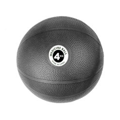 Medecine Ball PVC 4kg Noir - Stelvoren