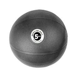 Medecine Ball 5kg PVC Noir - Stelvoren
