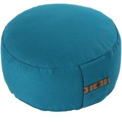 Petit coussin de méditation Zafu rond avec corde de serrage Turquoise - Stelvoren