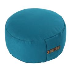 Petit coussin de méditation Zafu rond avec corde de serrage Turquoise