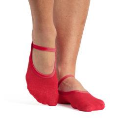 chaussettes antidérapantes Karina Red - Stelvoren
