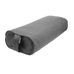 Bolster ovale de yoga en écales de sarrasin Gris - Stelvoren
