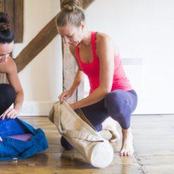 Sac de Yoga beige avec tapis - Stelvoren