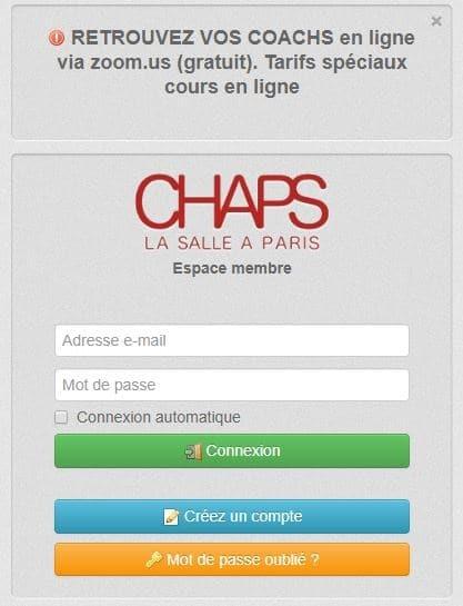 Cours en ligne Chaps Paris