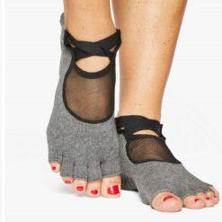 chaussettes clean cut charcoal grey pour le Pilates - Stelvoren