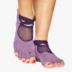 chaussettes de Pilates antidérapantes orteils séparés - Stelvoren
