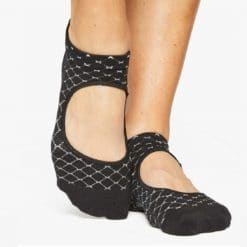 chaussettes ouvertes antidérapantes noires -Stevoren