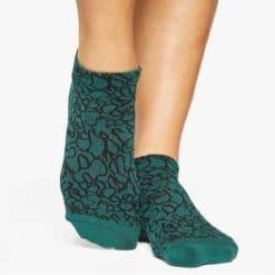 chaussettes de yoga antidérapantes Abstract Green - Stelvoren