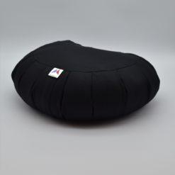 Coussin de méditation demi-lune en coton Black Stelvoren