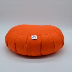 Coussin de méditation demi-lune en coton Orange Stelvoren