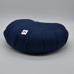 Coussin de méditation demi-lune en coton Bleu Foncé Stelvoren