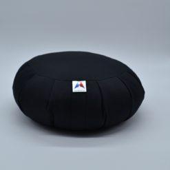 Coussin de méditation zafu en coton Noir Stelvoren