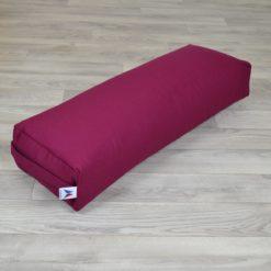Bolster de yoga rectangulaire grand format Burgundy - Stelvoren