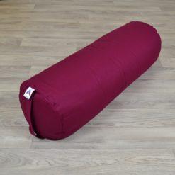 Bolster de yoga cylindrique grand format Burgundy - Stelvoren